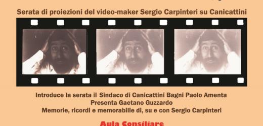"""""""Per favore non chiedetemi videocassette, grazie!"""". Venerdì si racconta Canicattini attraverso i video di Sergio Carpinteri"""