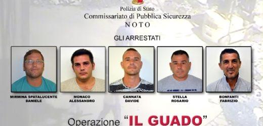 """Sgominata dalla Polizia di Noto una banda di ladri, arrestati in cinque nell'operazione """"Il Guado"""""""