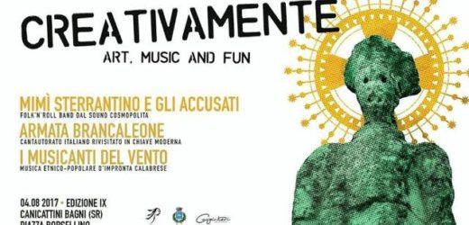 """Tutto pronto a Canicattini per la 9° di """"Creativamente"""", l'appuntamento estivo con arte, musica, etnico e street food"""
