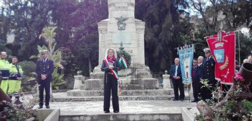 Il IV Novembre a Canicattini, giornata delle Forze Armate e dell'Unità Nazionale, cordoglio per le vittime del maltempo