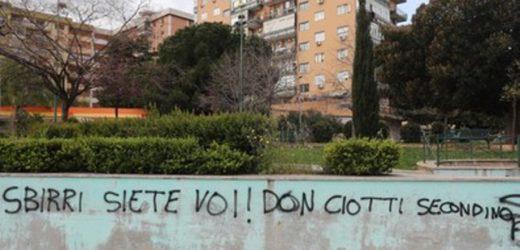 Ancora scritte minacciose contro don Luigi Ciotti presidente di Libera, dopo Locri stamane è successo su un muro di Palermo