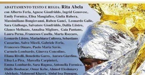 """I migranti di Obioma e Casa Aylan con gli alunni del """"G. Verga"""" di Canicattini in scena con Le Supplici di Eschilo"""
